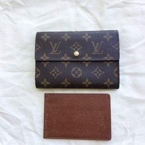 Louis Vuitton trifold wallet with ID insert